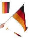 Deutschlandfahne mit Stab 2er